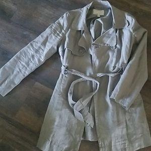 Old Navy Gray Women's Trench Coat-M
